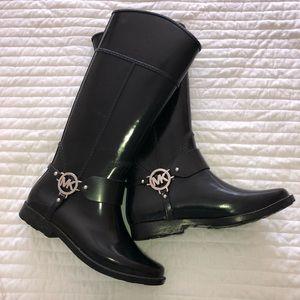 black Michael Kors rain boots